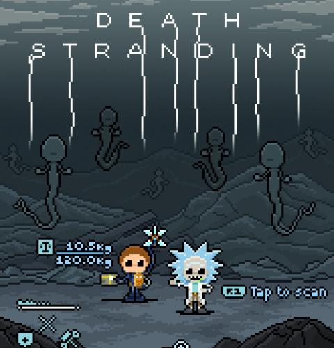 Death Stranding rick e morty x4